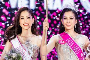 Nhan sắc tân hoa hậu Trần Tiểu Vy rực rỡ là thế nhưng vẫn đôi phần lép vé nếu so với Á hậu 1 Bùi Phương Nga