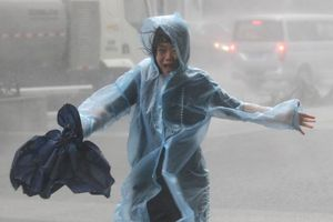 Chùm ảnh: Siêu bão Mangkhut càn quét Hong Kong