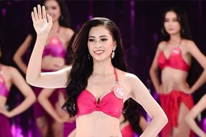 Cn cnh v nng bng top 3 Hoa hu Vit Nam 2018 vi bikini
