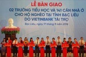 Trao tặng tỉnh Bạc Liêu hai trường tiểu học và 141 căn nhà chính sách