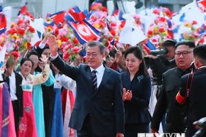 Tổng thống Hàn Quốc về Nhà khách Packhwawon để chuẩn bị hội đàm