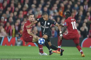 Mbappe ghi bàn, PSG vẫn gục ngã đau đớn trên sân Liverpool