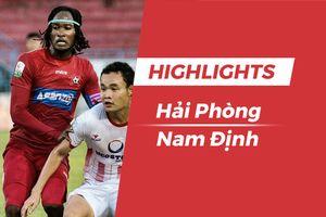 Highlights CLB Nam Định rời sân Lạch Tray với 1 điểm quý giá