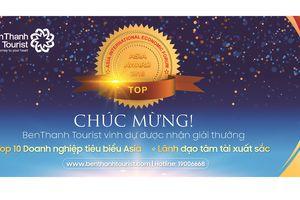 Ceo Benthanh Tourist nhận danh hiệu tốp 10 doanh nhân tâm tài xuất sắc năm 2018