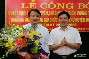 Phó Bí thư Tỉnh ủy Nguyễn Văn Thông dự lễ công bố Quyết định Phó Bí thư Huyện ủy Đô Lương