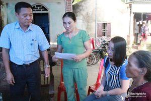 Thăm hỏi, hỗ trợ gia đình nạn nhân đuối nước và sét đánh ở Quỳ Hợp, Con Cuông