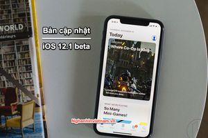 Apple phát hành bản cập nhật iOS 12.1 beta