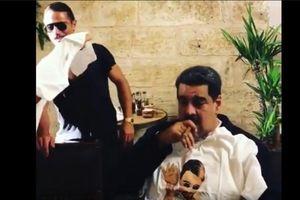 Tổng thống Venezuela ăn thịt bò, hút xì-gà trong khi dân đói