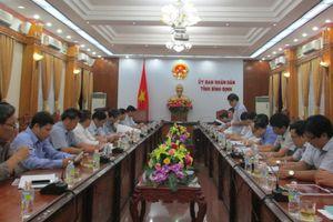 Đoàn công tác Tổng cục Khí tượng thủy văn làm việc với UBND tỉnh Bình Định về việc thi hành pháp luật khí tượng thủy văn
