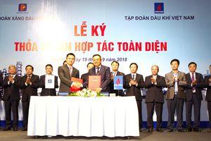 PVN và Petrolimex ký thỏa thuận hợp tác toàn diện