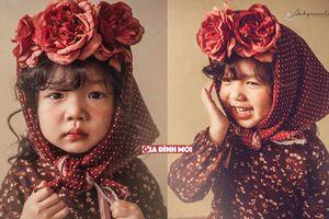 Bộ ảnh cô bé 4 tuổi má phính, tóc xoăn cá tính ở TP Vinh