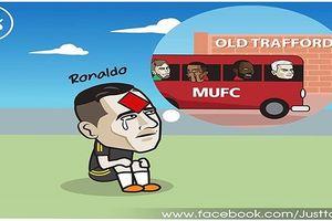 Biếm họa 24h: Dính thẻ đỏ vô duyên, Ronaldo lỗi hẹn MU ở Old Trafford?