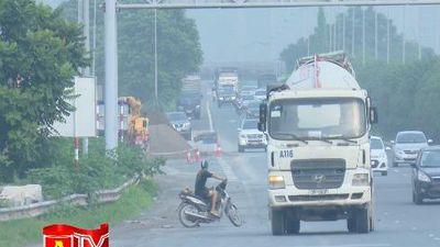 Tăng cường xử lý xe máy đi vào làn cao tốc Đại lộ Thăng Long