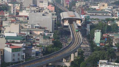 Clip: Đường sắt Cát Linh - Hà Đông chính thức chạy thử 5 tàu
