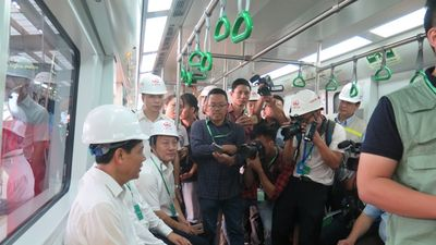 Hình ảnh tàu đường sắt Cát Linh - Hà Đông vận hành thử