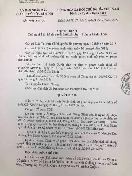 TP. HCM ra quyet dinh cuong che du an xay sai phep Thao Dien Sapphire - Anh 2