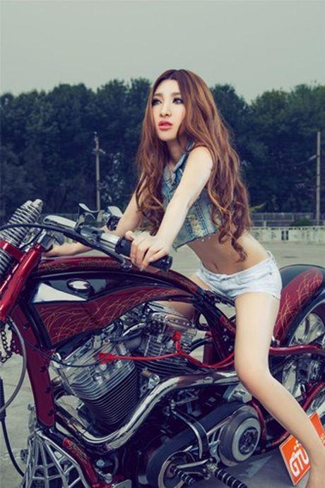Moto Harley-Davidson khung do dang 'chan dai den nach' - Anh 10