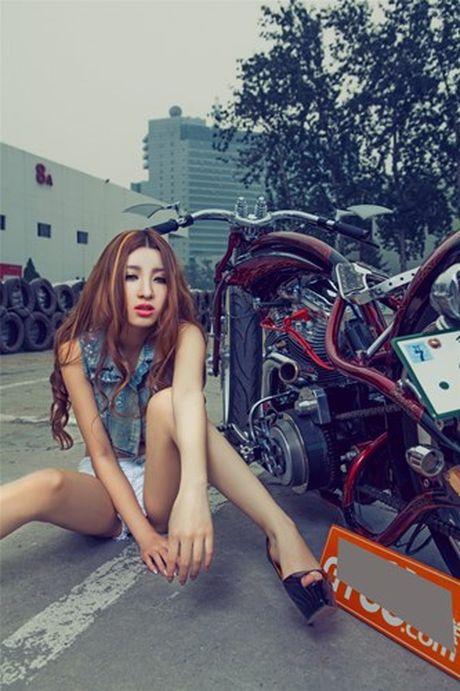 Moto Harley-Davidson khung do dang 'chan dai den nach' - Anh 9